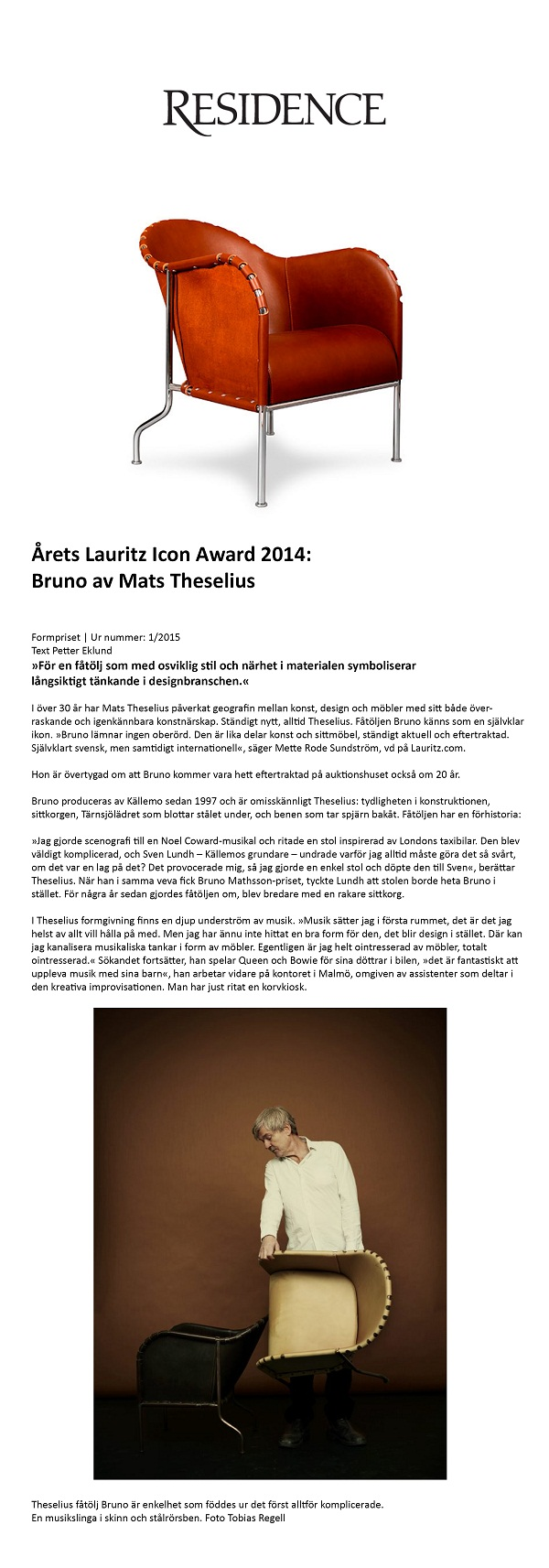 Årets Lauritz Icon Award